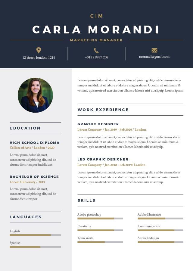 riga resume template