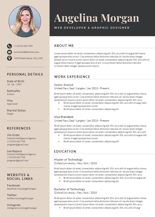 rotterdam resume template